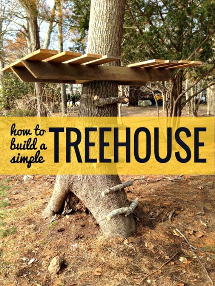 Easy How To Build a Treehouse - DIY