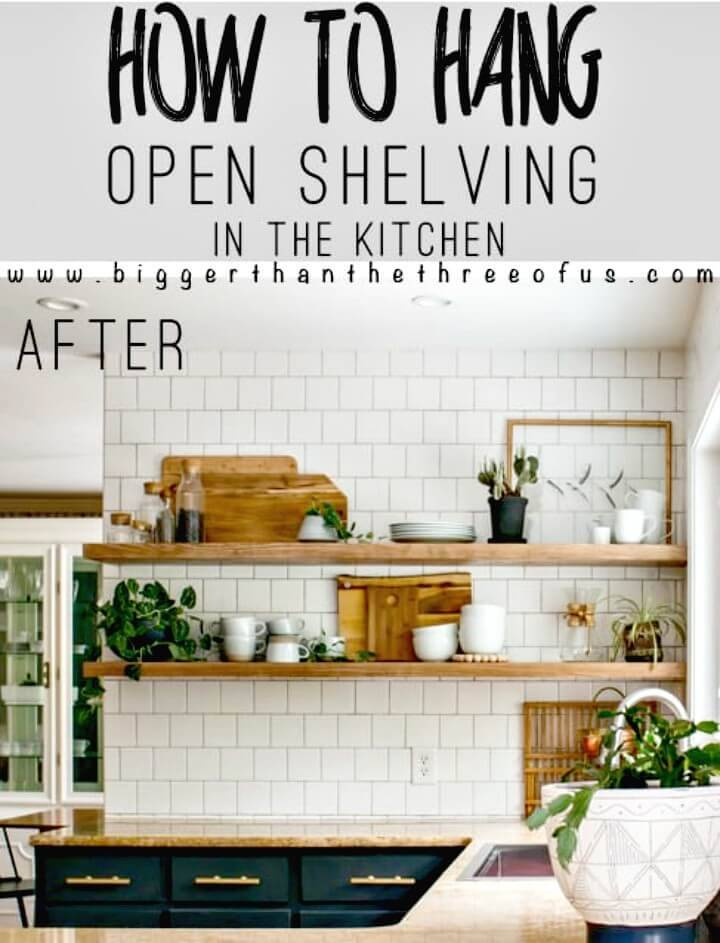 How To Install Heavy Duty Floating Shelves For The Kitchen - DIY