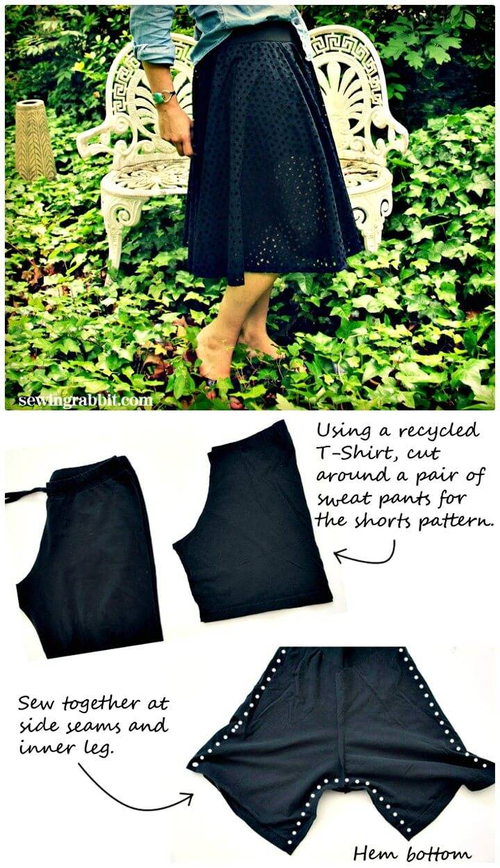 How To Sew an Eyelet Circle Skirt - DIY