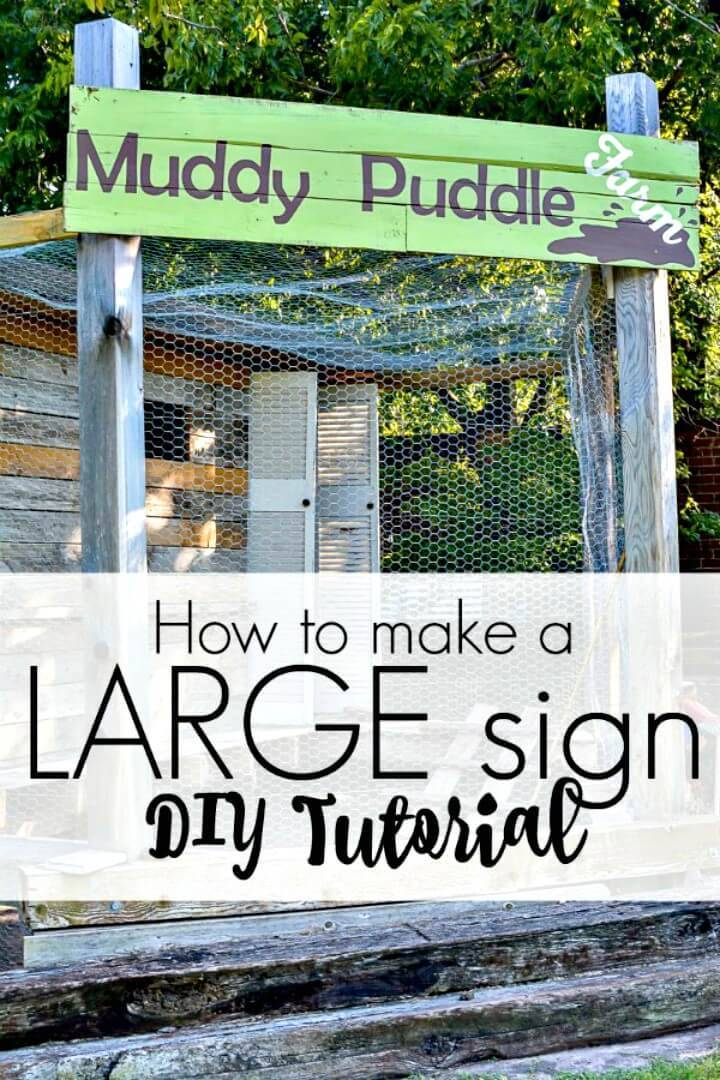 Easy How to Make Large Sign - DIY