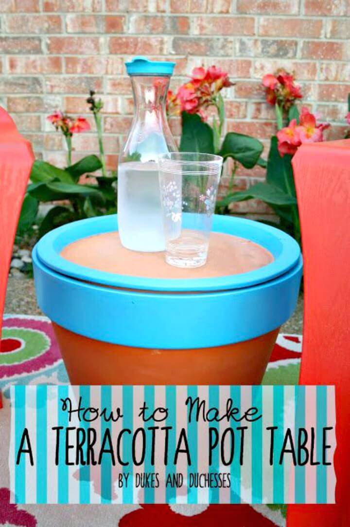 How to Make a Terracotta Pot Table - DIY