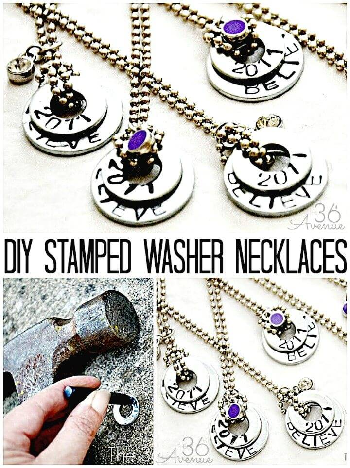 How to Makle Stamped Washer Necklaces - DIY Gift Idea