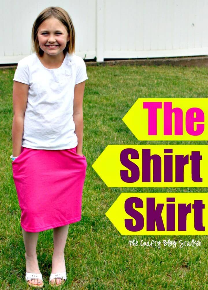 Easy How to Sew a Shirt Skirt - DIY