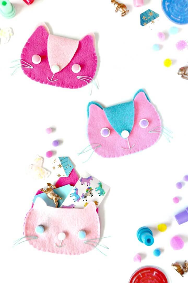 Easy and Cute DIY Kitten Clutches