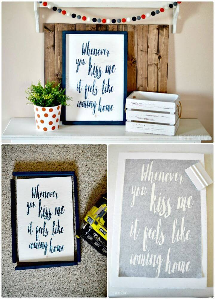Easy and Cute DIY Song Quote Sign