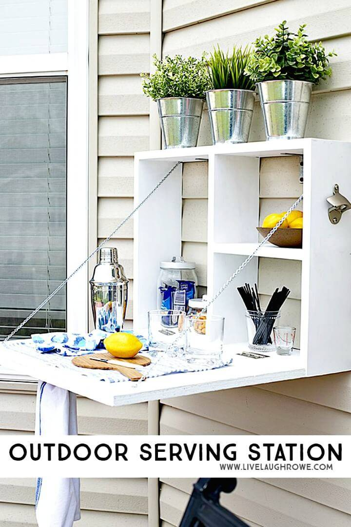 Gorgeous DIY Outdoor Serving Station