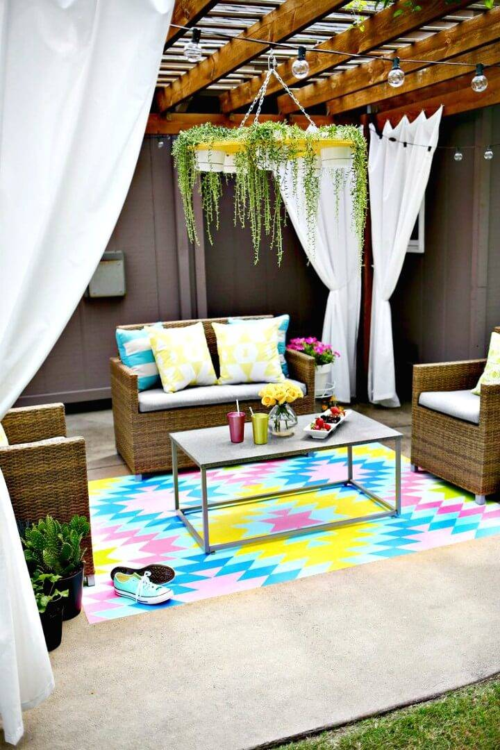 Gorgeous DIY Paint Your Own Outdoor Rug