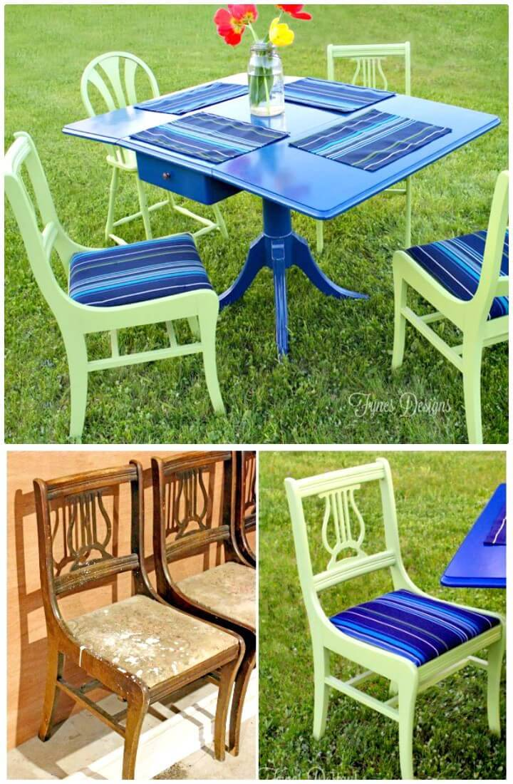 Gorgeous DIY Painted Outdoor Dining Set