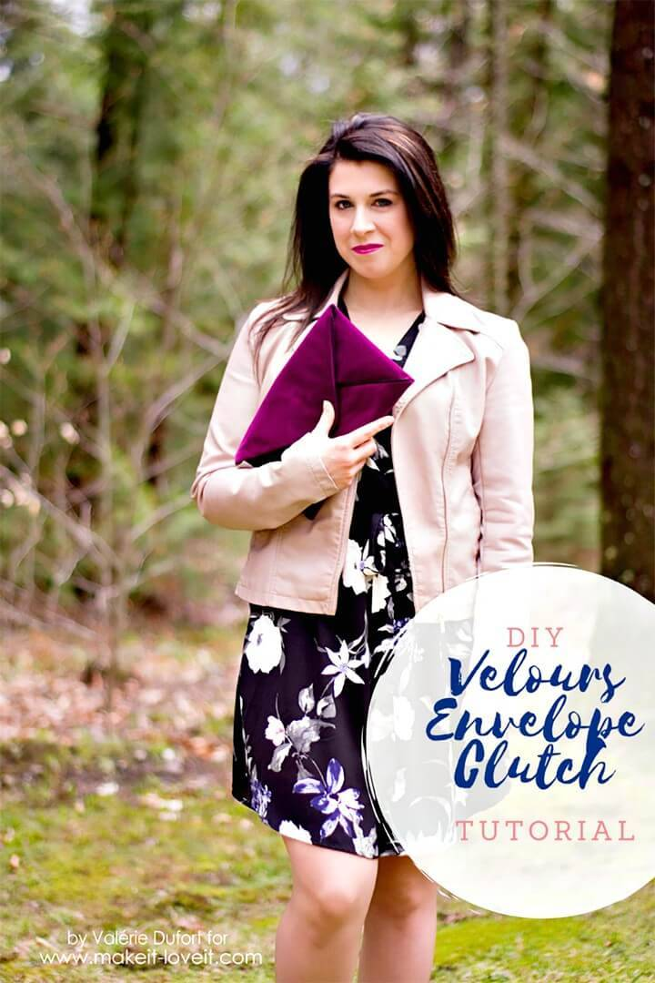 How to Make Velours Envelope Clutch - Gorgeous DIY