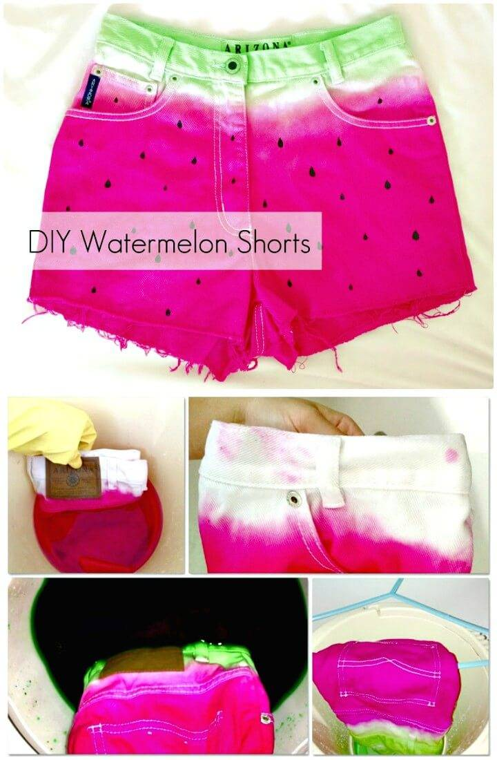 How to DIY Watermelon Shorts