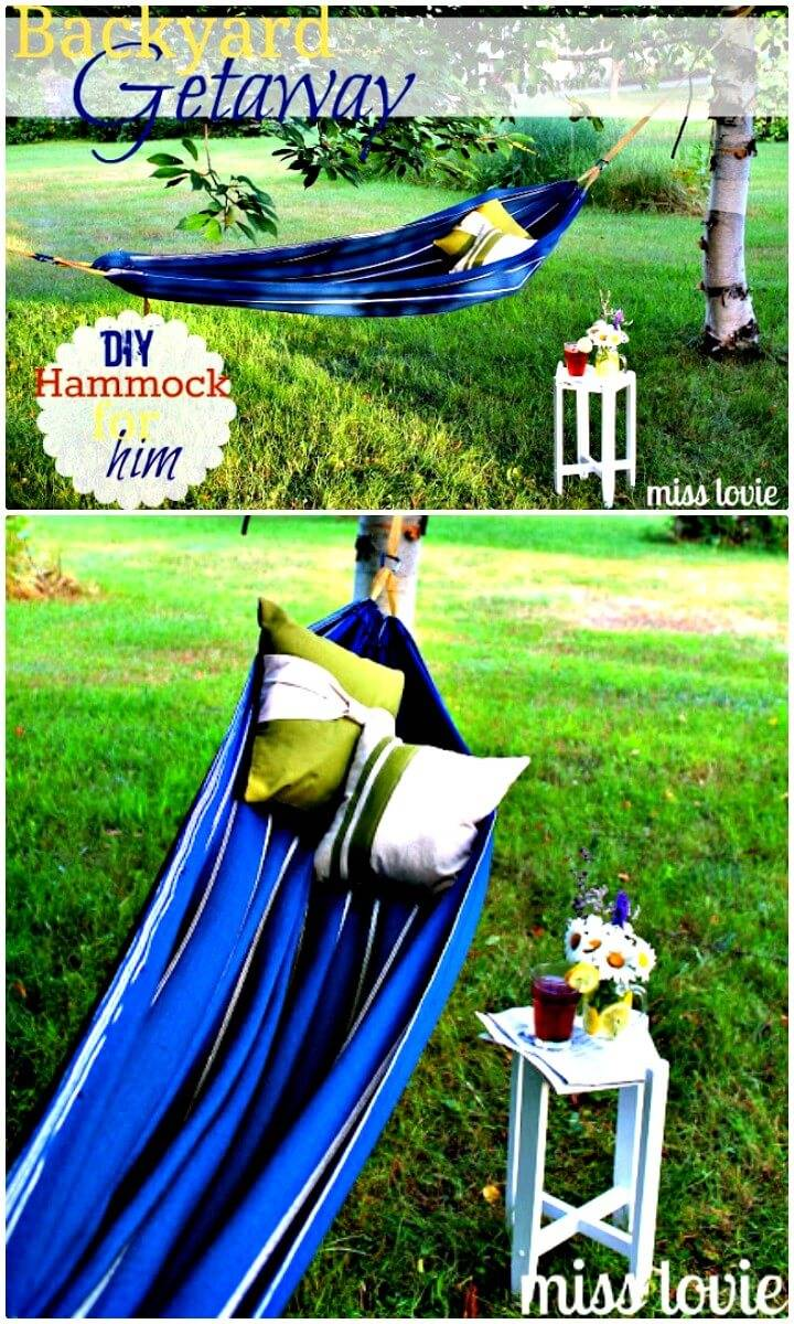 Gorgeous Make Your Own Backyard Hammock - DIY