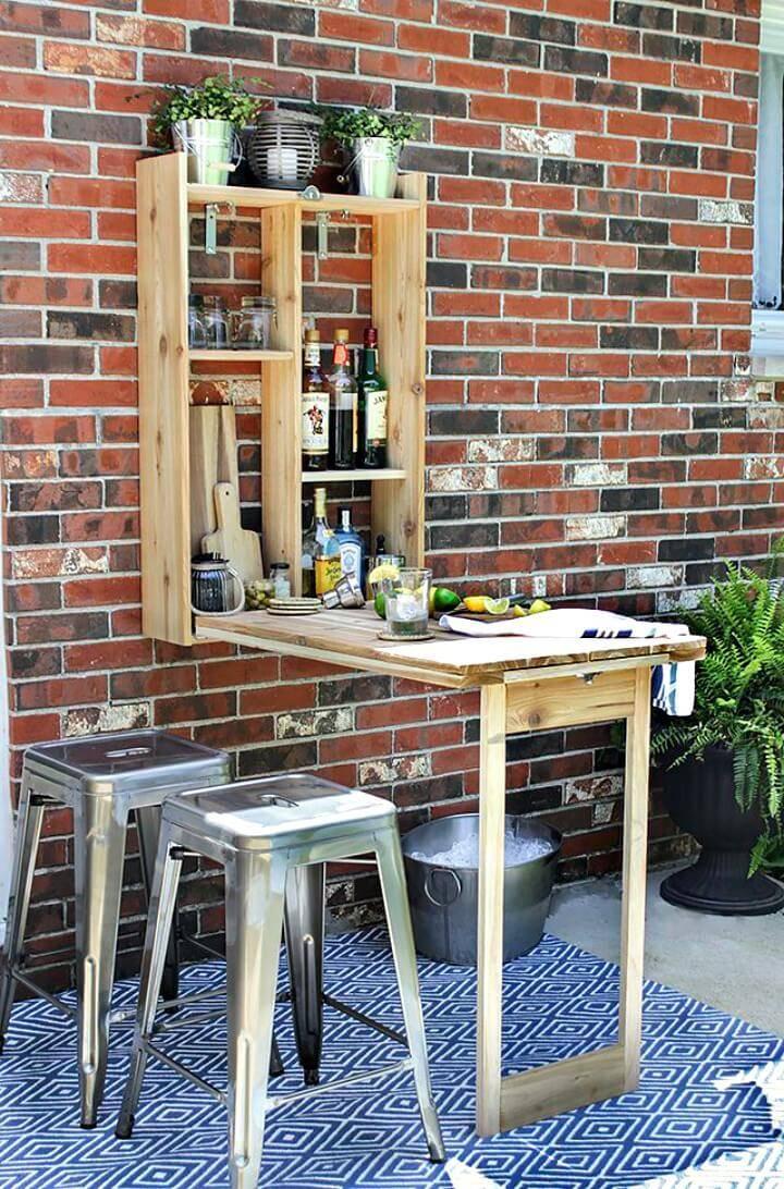 Gorgeous Make Your Own a Murphy Bar - DIY