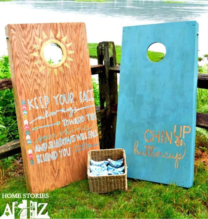 How To Build a Cornhole Board - DIY