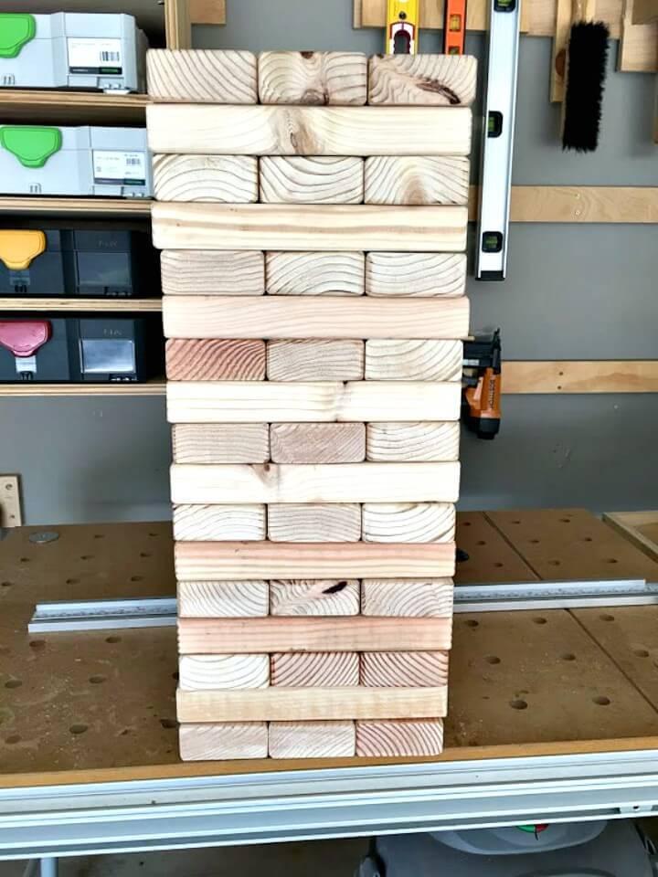 How To Build Giant Jenga Yard Game - DIY