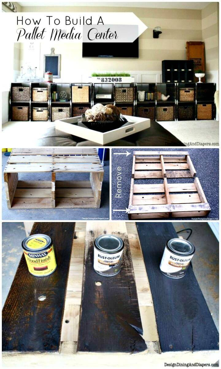 Adorable How To Build A Media Center Out Of Pallets