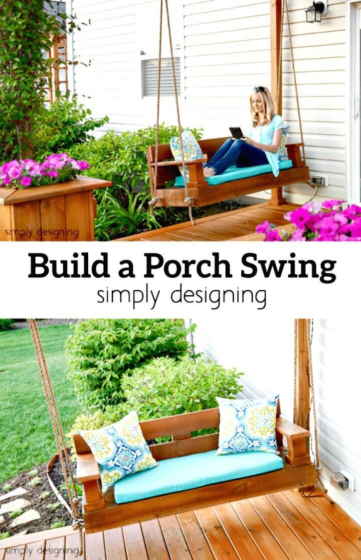 How to Build a Swing for Your Patio & Porch Decor - DIY