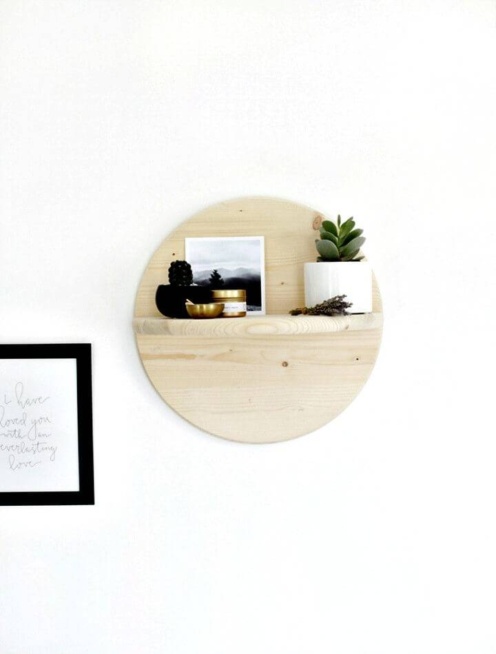 How To Build Your Own Circle Shelf