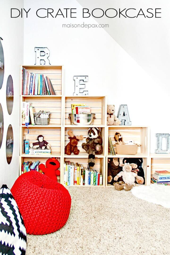 Build Your Own Crate Bookcase