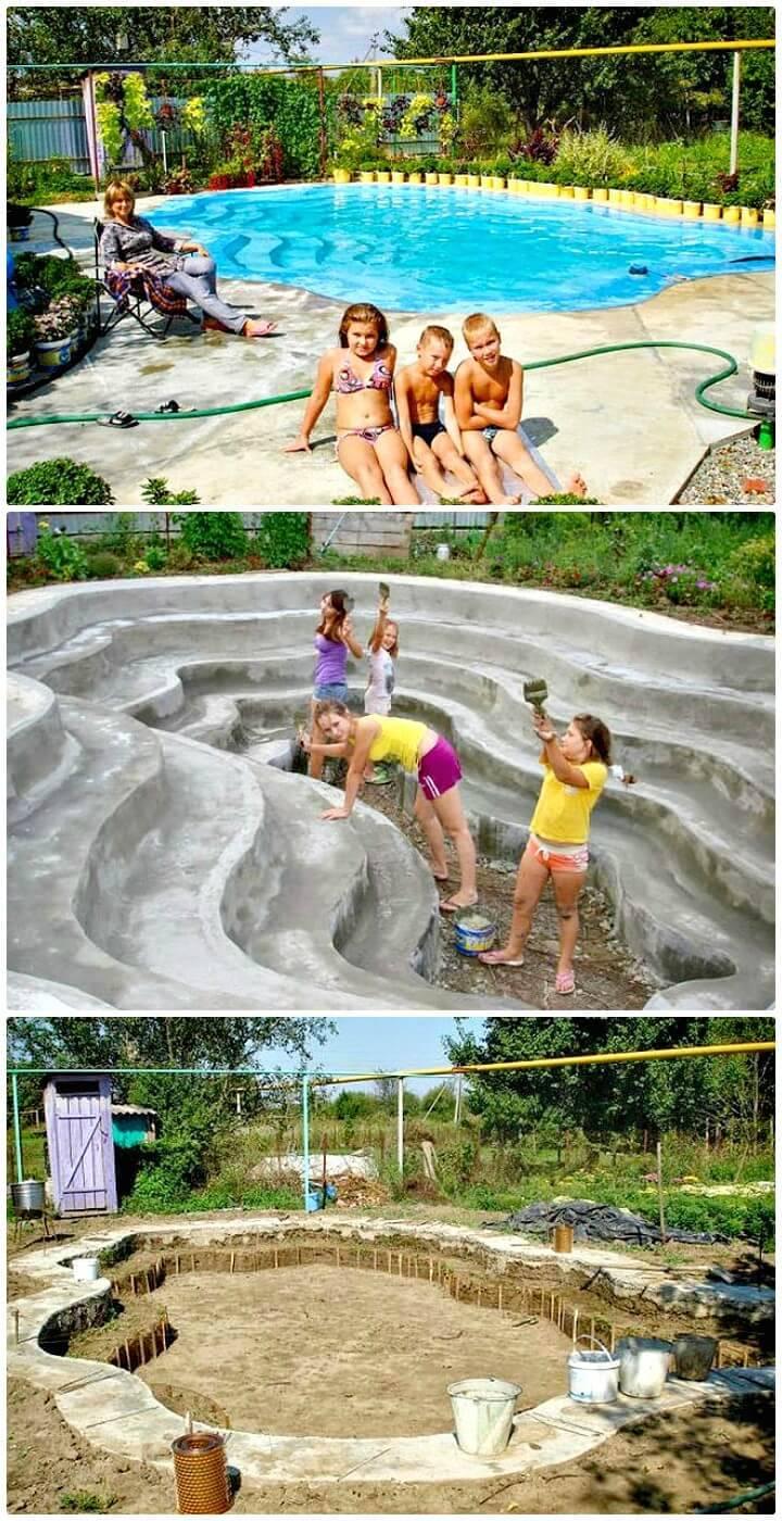 How To Build Custom Swimming Pool - DIY Homemade