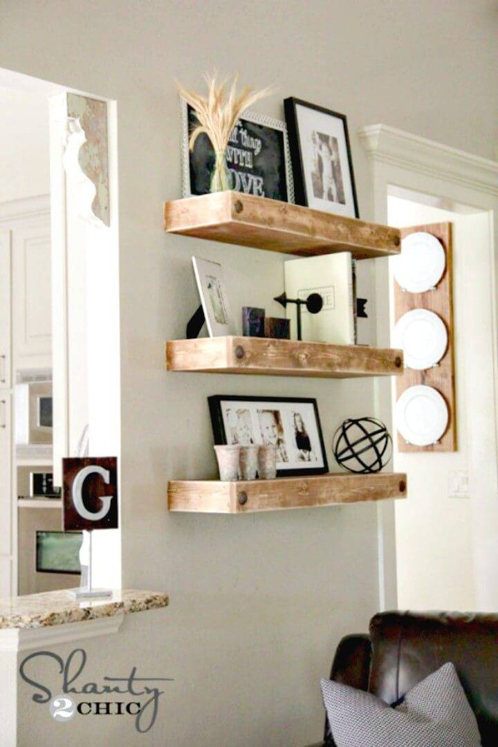 How To Build Floating Shelves With Clavos - DIY