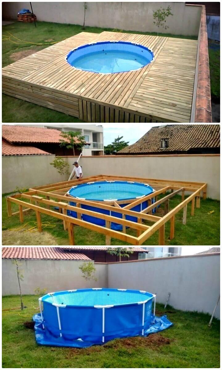 12 low budget diy swimming pool tutorials diy crafts for Build my pool