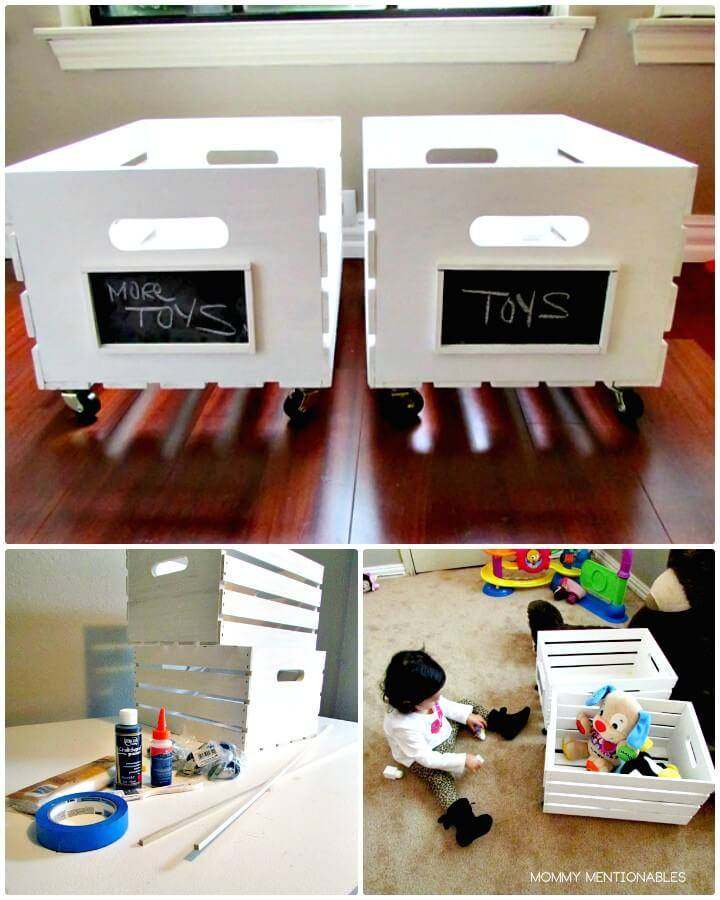 How To Build Toy Storage Tutorial - Wooden Crate On Wheels