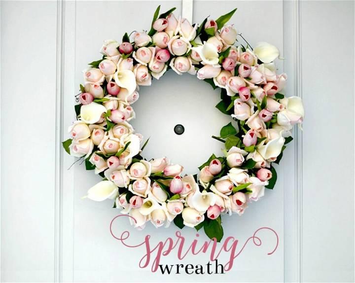 Build Your Own Spring Rosebud Wreath - DIY