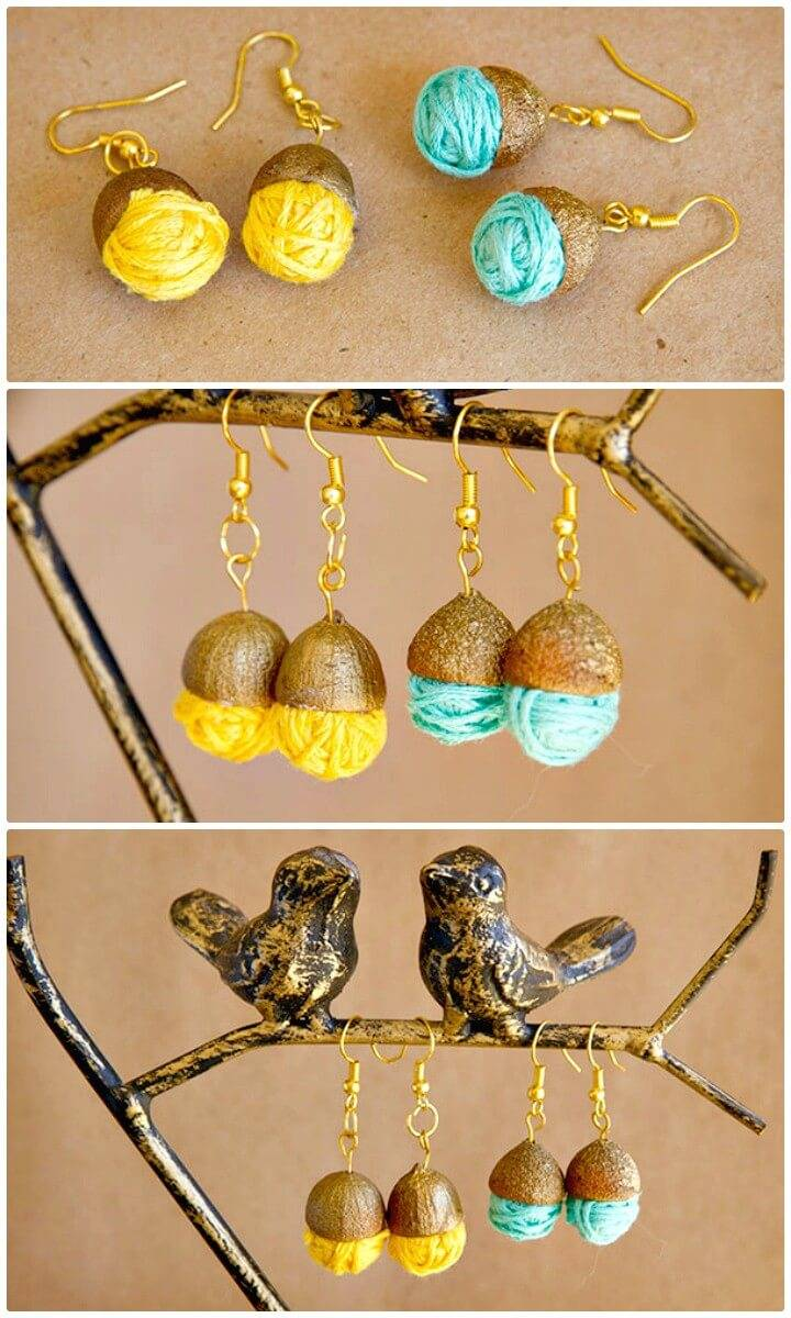 Create Acorn Earrings and DI-Wine - DIY