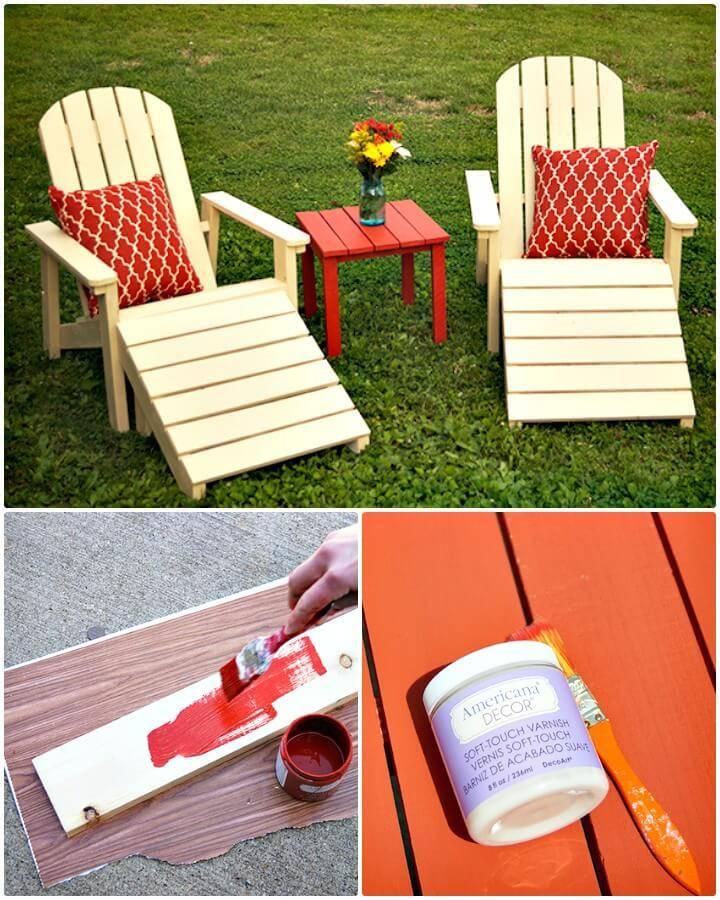 DIY Five Piece Outdoor Adirondack Furniture Set for $45 - Backyard Ideas