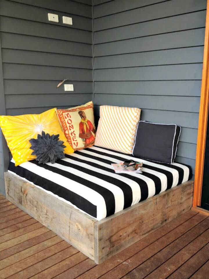 How To DIY Backyard Day Bed
