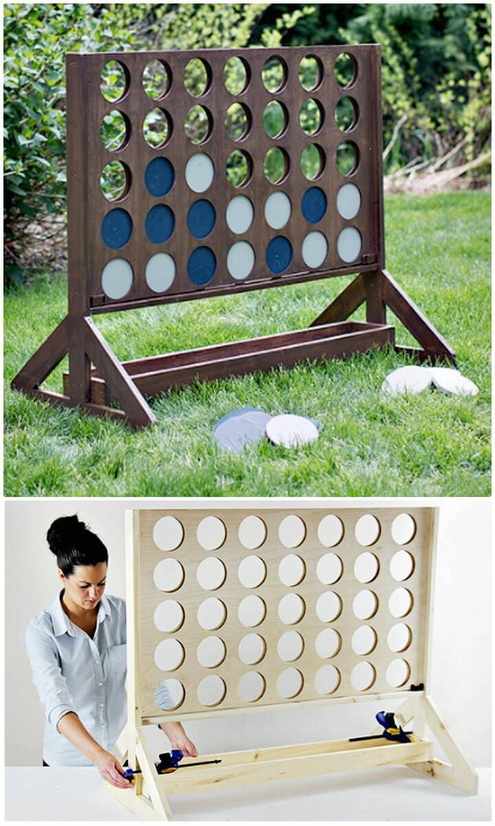 How To DIY Backyard Game - Four in a Row