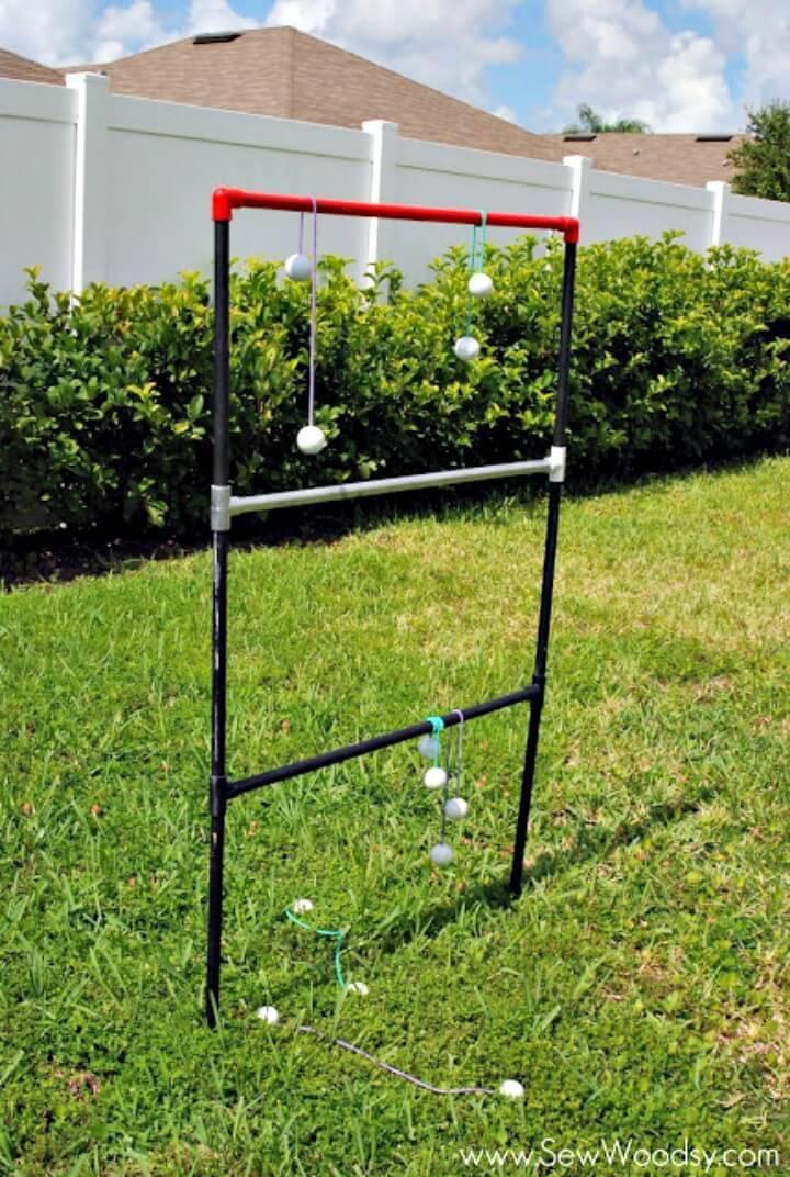 DIY Ladder Toss Outdoor Game For Summer & Spring
