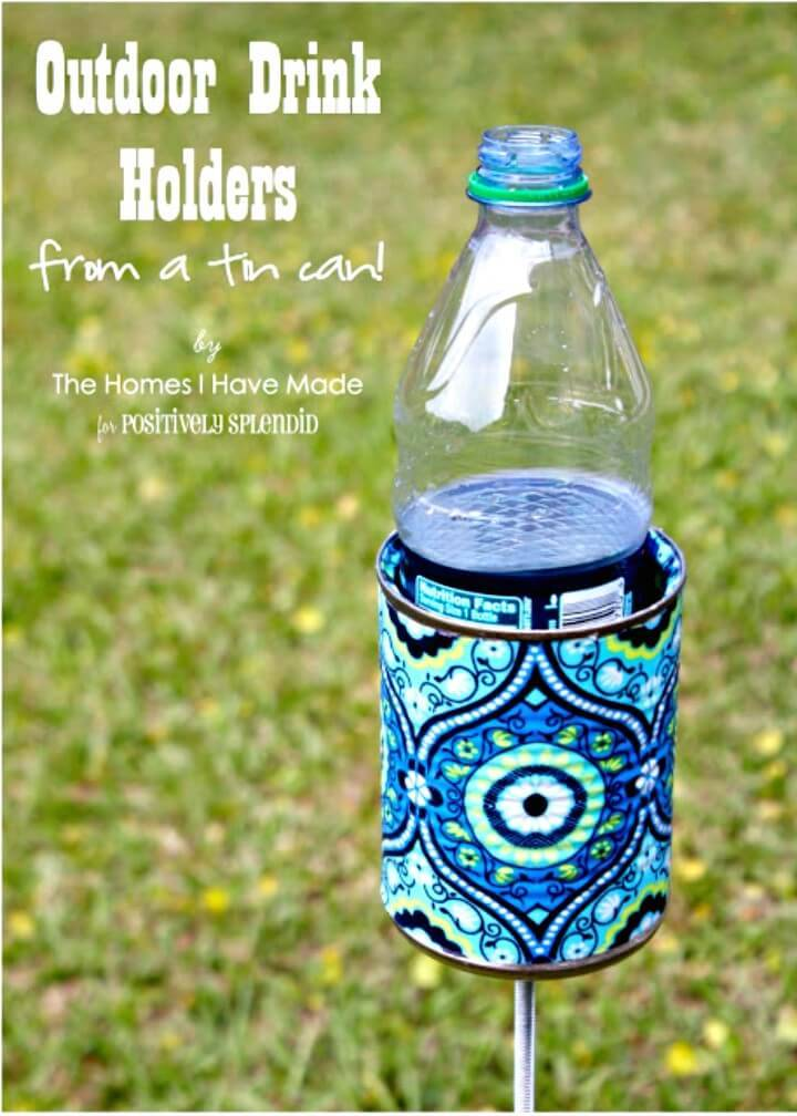 How To DIY Outdoor Drink Holder - Backyard Ideas