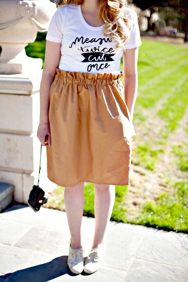 How To DIY Paper Bag Skirt