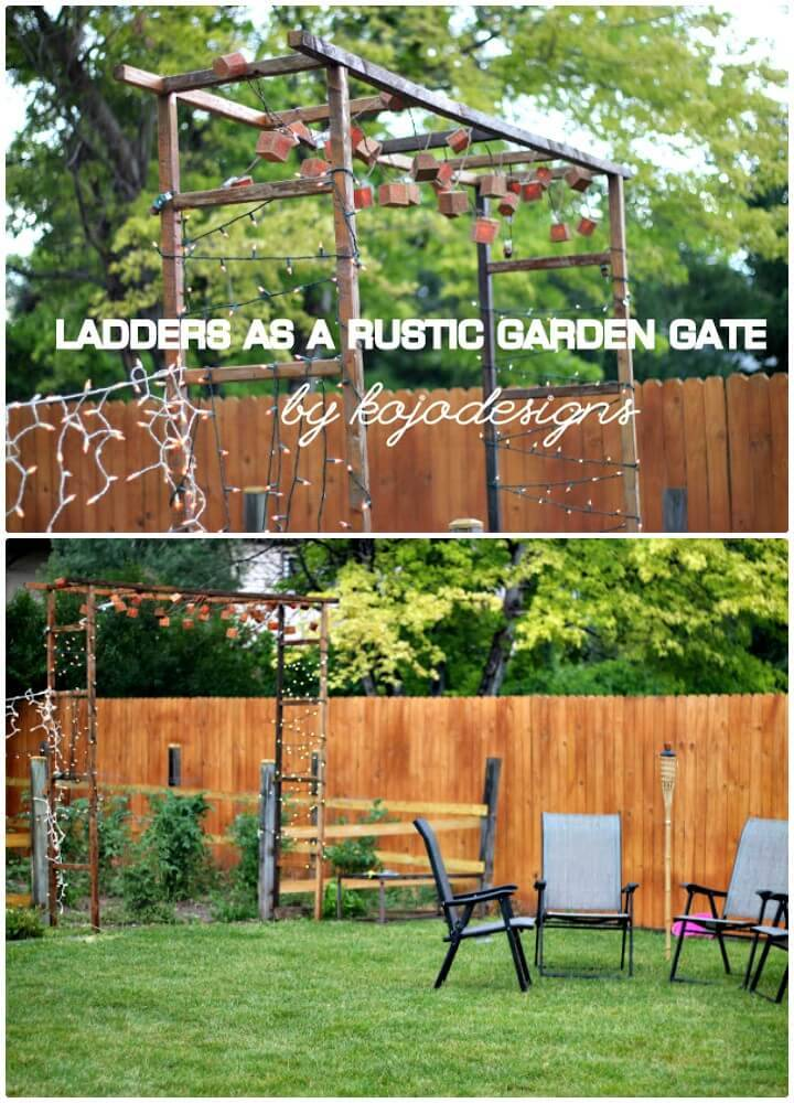 How To DIY Rustic Garden Gate