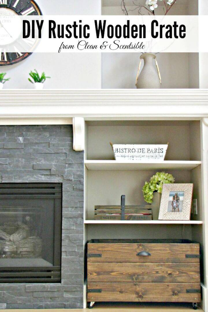 How To DIY Rustic Wooden Crate