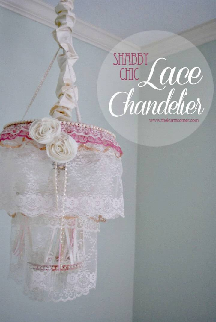 How To DIY Shabby Chic Nursery Chandelier