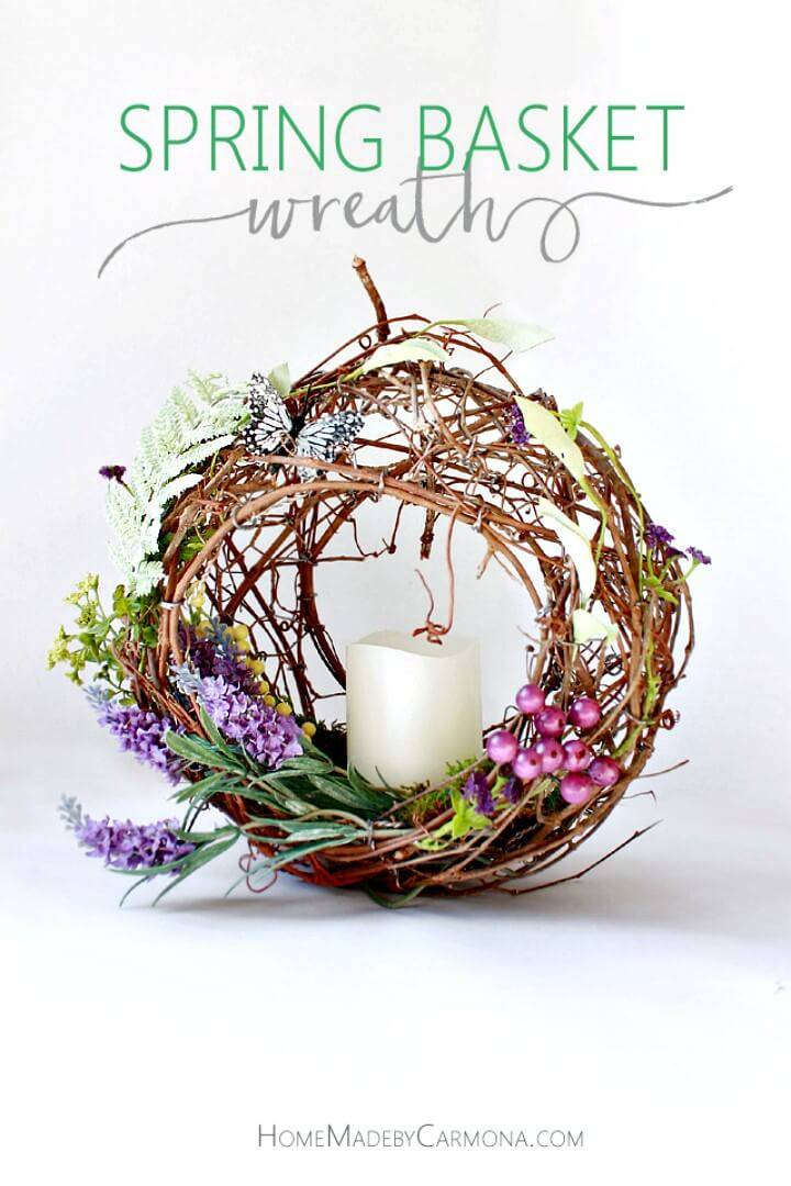 How to DIY Spring Basket Wreath