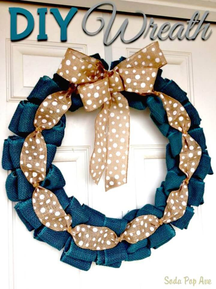 How To Make a Burlap Spring Wreath Tutorial