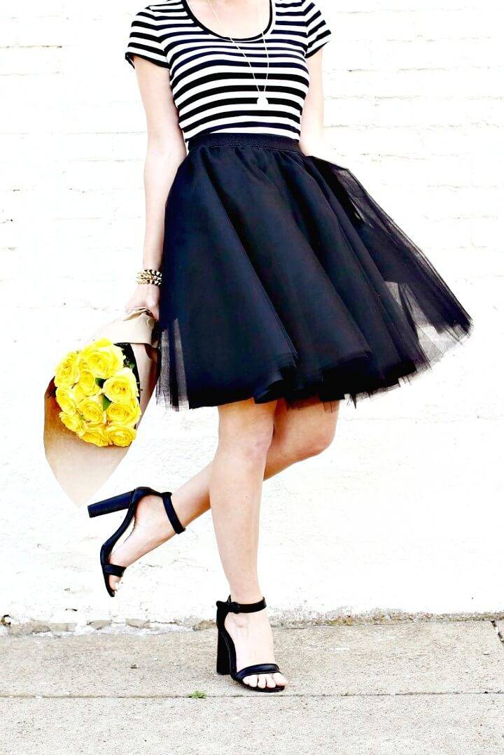 How to DIY Tulle Circle Skirt