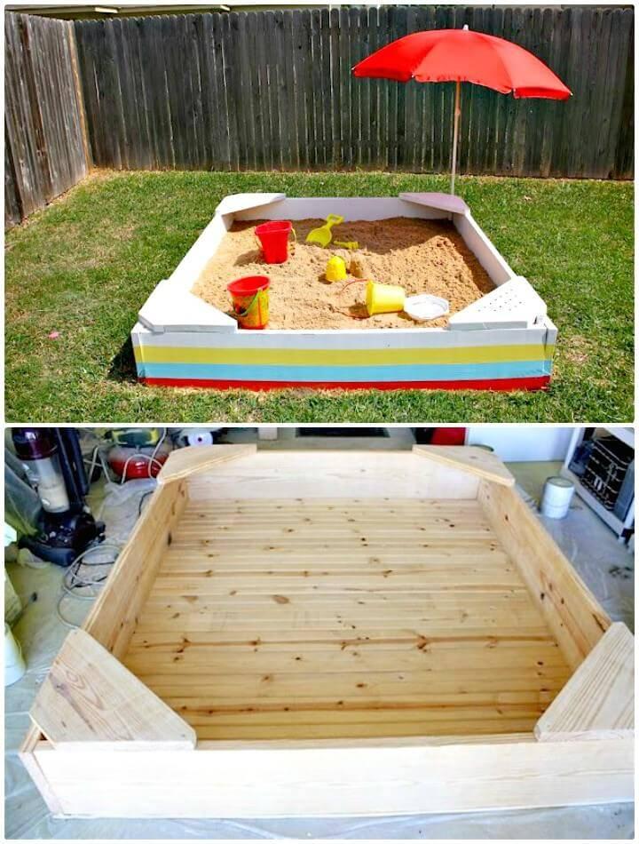 How To DIY a Sandbox Step by Step Tutorial - Backyard Ideas