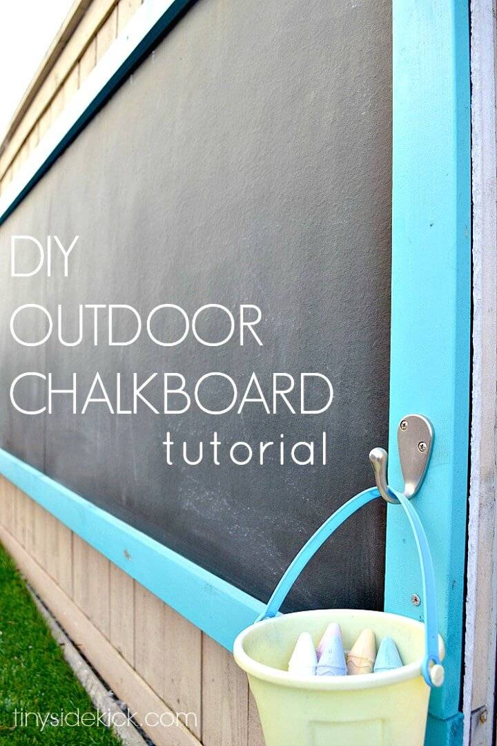 Giant DIY Outdoor Chalkboard - Patio & Porch Decor Ideas