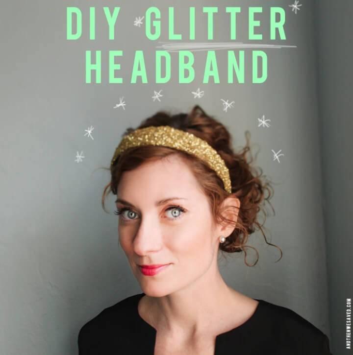 How To Make A Glitter Headband - DIY