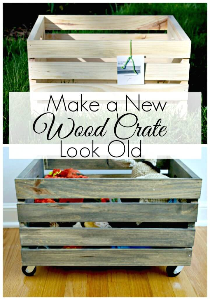 How To Make a New Wood Crate Look Old