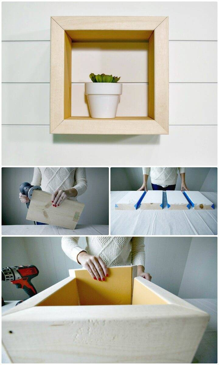 How To Make Wooden Box Shelf - DIY