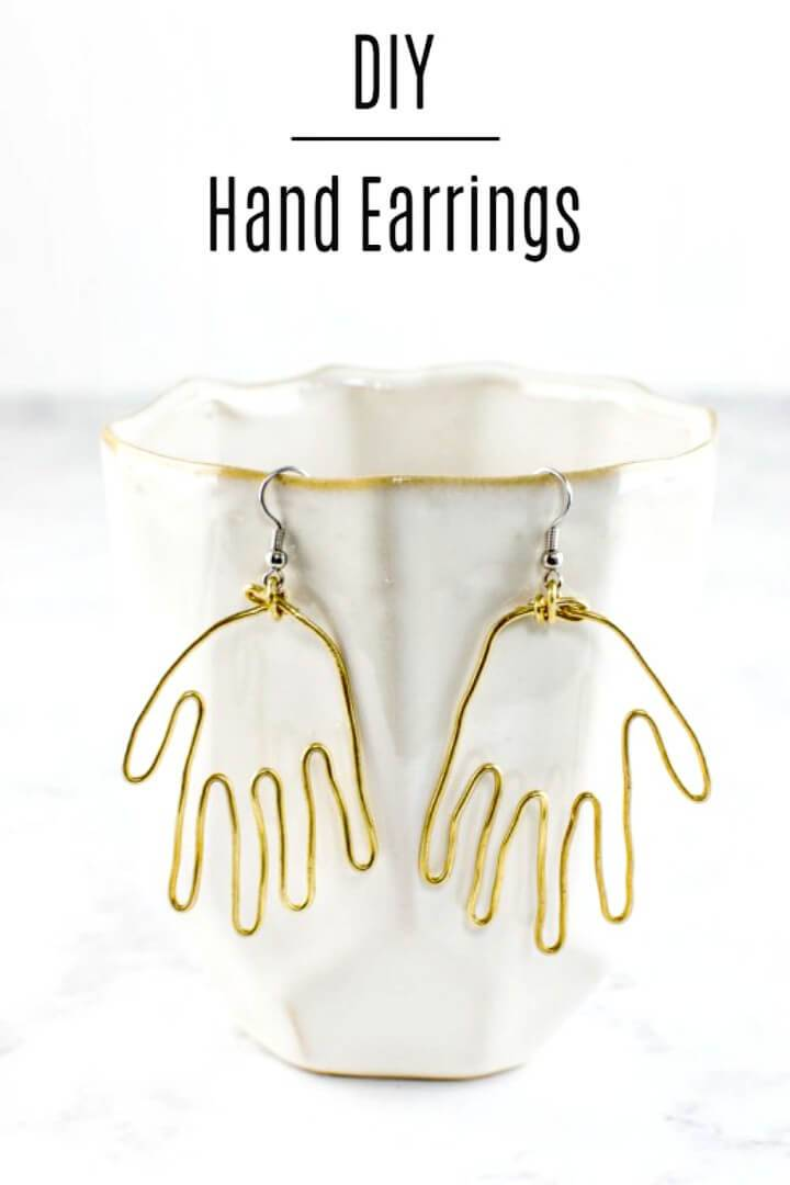 How To Make Brass Hand Earrings - DIY