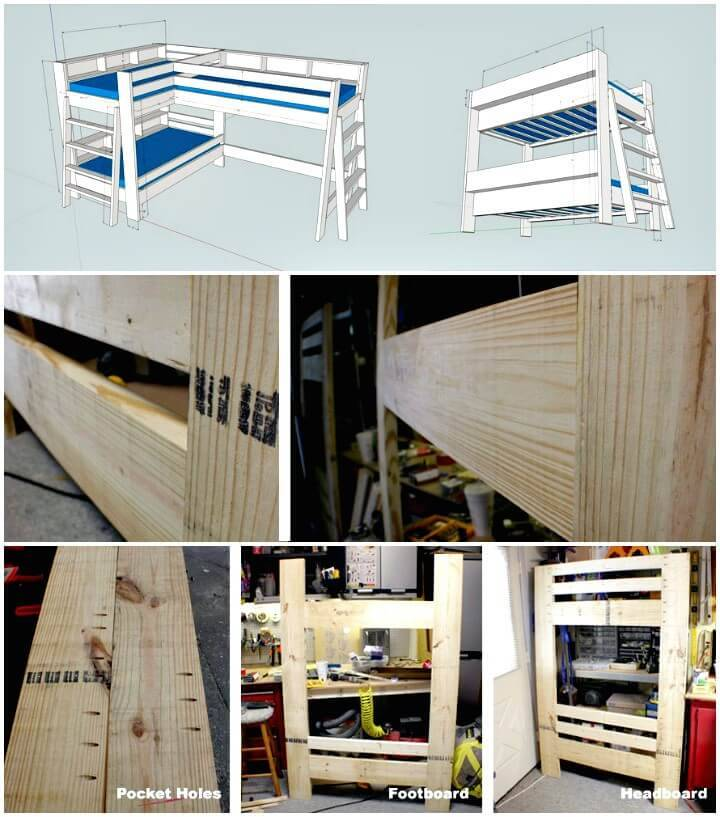 Make Bunk Bed Step By Step Tutorial - DIY