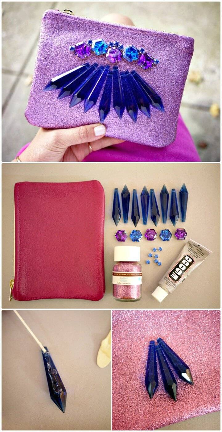How To Make Chandelier Crystal Clutch - DIY