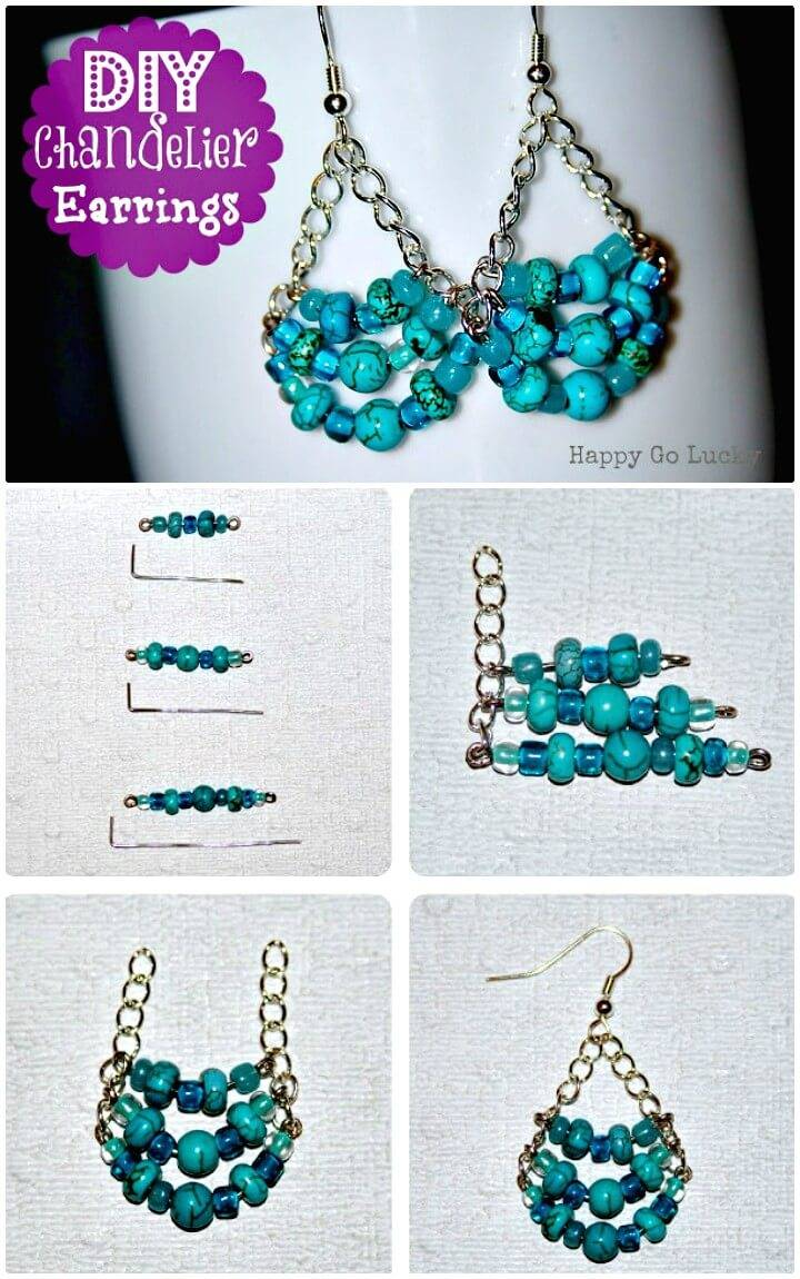 How To Make Chandelier Earrings - DIY