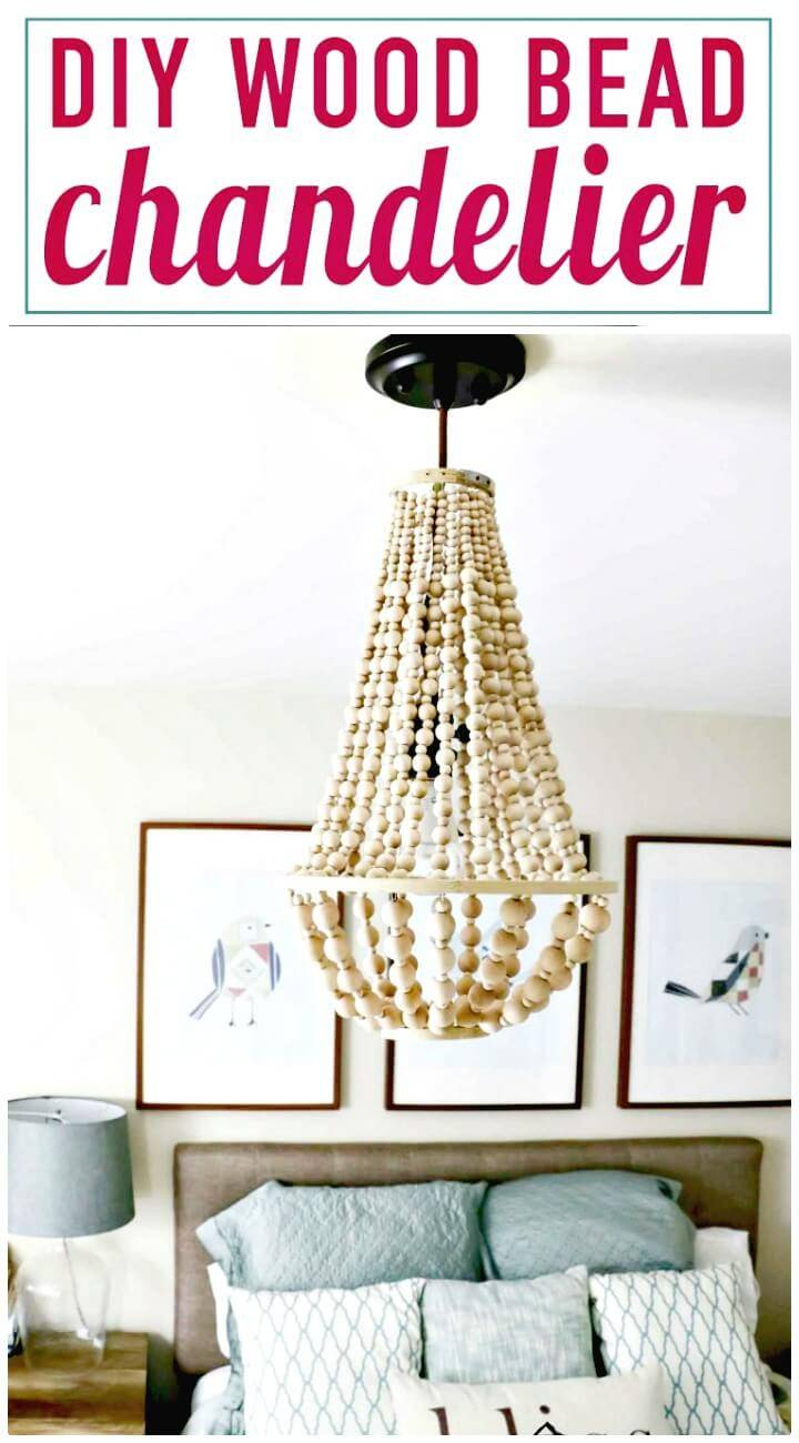 Easy Make Chandelier From Wood Beads - DIY